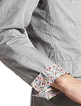 Chambray Oxford Jacket 3122-199-0337: Grey