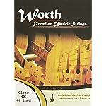 ワースストリングス Worth Strings フロロカーボン ウクレレ弦セット クリア ミディアム CM【NP】