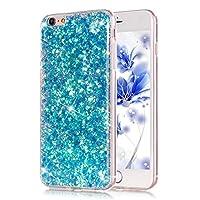 PHEZEN iPhone 6/6S Plus 5.5インチ用 キラキラ輝くTPUケース 六芒星 柔軟でソフトなジェルラバー製 透明 シリコンバックケース (赤) RT7915L