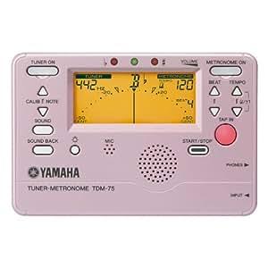 YAMAHA ヤマハ チューナーメトロノーム プラチナピンク TDM-75PP