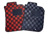 送料無料 ダイハツ アトレーワゴン S320 年式:平成17年5月~平成 専用 社外新品 フロアマット カーマット チェック赤黒