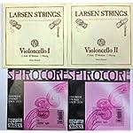 チェロ弦セット セシリアムジカ・セレクション LARSEN & SPIROCOREクローム巻(Weich)