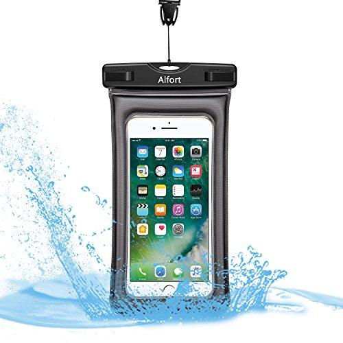 防水ケースiPhone7/7 Plus Samsung S8 6インチ以下スマホ対応 Alfort IPX8認定 ドライバッグ お風呂 温泉に