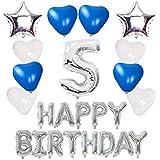 【Shiseikokusai 】 HAPPY BIRTHDAY 風船 お子様誕生日パーティー 豪華 誕生日 飾り付け セット シルバー(ff-y05)