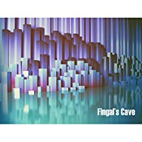 Fingals Cave Staffa Scotland Scottish Landmark Abstract Canvas Print