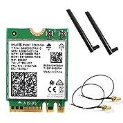 Intel (インテル) Wirelss-AC9260NGW 802.11ac (1,733Mbps) MU-MIMO & Bluetooth5 + 5dB 5GHz/2.4GHzロッドアンテナ・アンテナケーブル セット