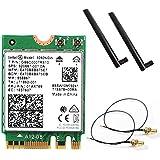 periPLUS Wirelss-AC9260NGW 802.11ac (1,733Mbps) MU-MIMO & Bluetooth5 + 5dB 5GHz/2.4GHzロッドアンテナ・アンテナケーブル セット (intel AC9260NGW 採用)