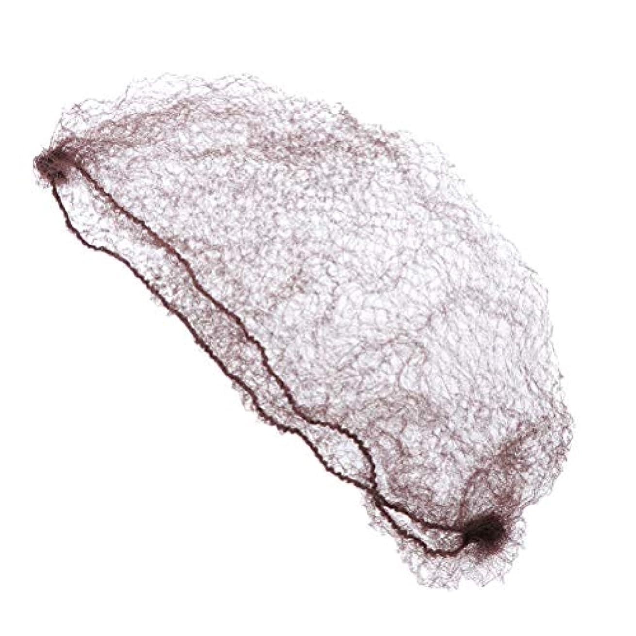 ピクニックの量大統領Frcolor ヘアネット 髪ネット 目に見えない 弾性 団子ドレスアップ アクセサリー 再利用可能 100本 (コーヒー/ 50cm)