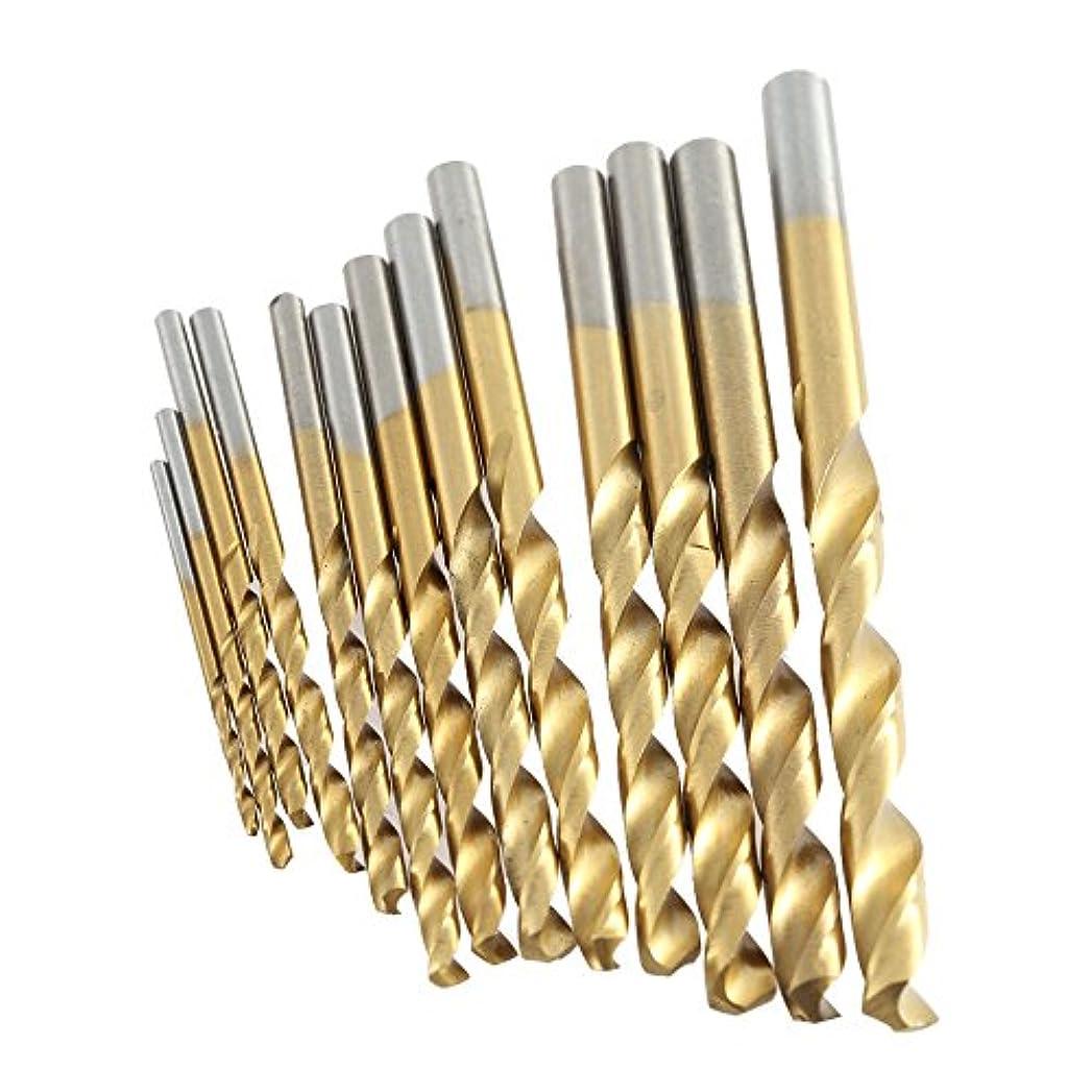 通常フルート敬なWunes - 13pcs /セットミニツイストドリルビットHSSめっきチタン設定するソーメートル法木工金属Platic掘削ツール高品質