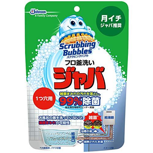 スクラビングバブル 風呂釜洗浄剤 ジャバ 1つ穴用 粉末タイ...