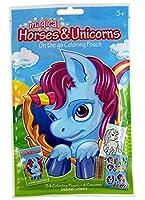 Magical Horses and Unicorns on the Goカラーリングアクティビティポーチwithカラーリングページ、クレヨン、、ステッカー、2パック