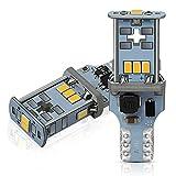 AUXITO T16 LED バックランプ 爆光1300ルーメン キャンセラー内蔵 バックランプ T16   T15 3020LED10連 18ヶ月保証 12V 無極性 ホワイト 後退灯 バックライト 50000時間以上寿命 (2個セット)