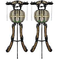 霊前灯 白峰灯 黒 メッシュ 1対(2台1組) 高さ約110cm 廻転筒付 日本製 行灯 盆提灯 八女提灯