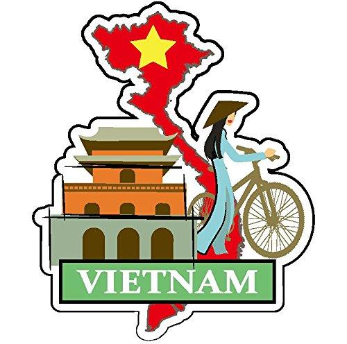 ステッカー ベトナム ナショナルフラッグ&マップシリーズ 国...