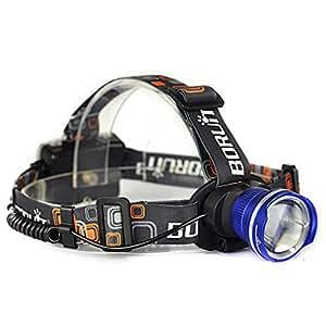 単三電池 超軽量タイプ200グラム CREE LEDヘッドライト 日本語簡易説明書付 新2000ルーメン 大型光学レンズ付ズーム 点灯3モード