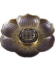 shanbentang Incenseホルダー、多目的ブロンズロータス香炉お香の円錐、またはコイル