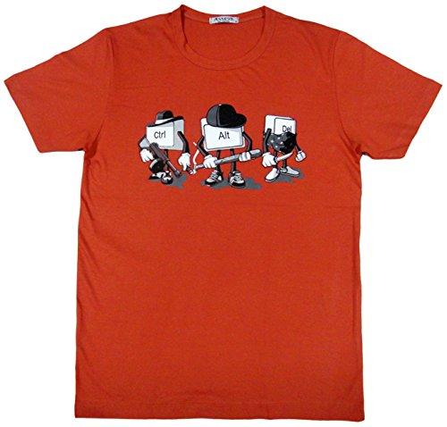 ジョークTシャツ ctrl alt del (Lサイズ) -