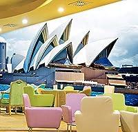 Wkxzz カスタム3D写真壁紙現代建築風景アートオフィスリビングルームの背景壁画家の装飾-250X175Cm