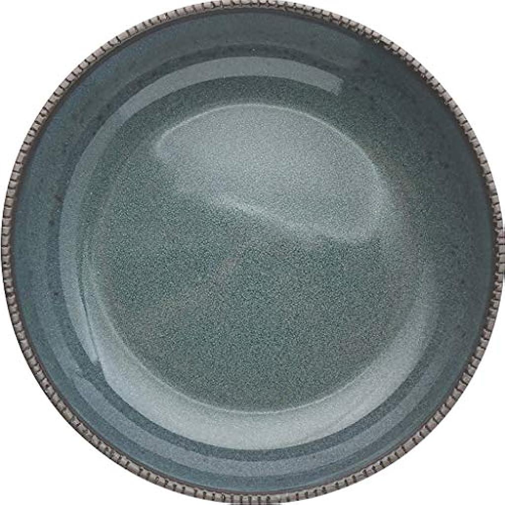 グローブそこからイヤホンヨーロッパ石器麺ボウルサラダボウル鋸歯状エッジ浅い口抗反火傷用レストランキッチン900ミリリットルダークグリーン (サイズ さいず : 2 packs)