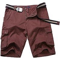 NEWCOSPLAY Men's Cotton Cargo Casual Shorts