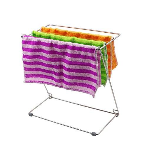 [해외]행주 걸이 접이식 HULISEN 속건 공간 절약형 주방 수납/Fold cloth folding HULISEN Quick-drying small space-saving kitchen storage