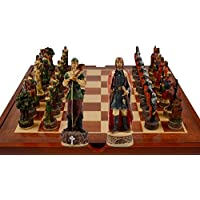Robin Hood Themed Chess Set. 32 Resin Pieces with Storage Area