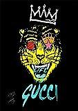 Canvas Poster グッチ Real Gucci キャンバスポスター オマージュアート インテリア #wb24 STAR DESIGN A2サイズ(420×594mm)