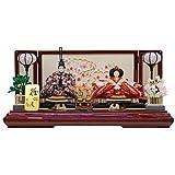 雛人形 親王飾り 平飾り 塗桐 幅70cm [fz-57] ひな人形
