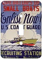 3drose LSP _ 171435_ 1US Coast Guard演算子の小さなボートEnlist Now募集ポスターSingle切り替えスイッチ