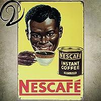 コーヒーメタルポスターウォールアートネスヴィンテージ家の装飾20 * 30バーカフェパブぼろぼろのシックな錫サインプラークバー装飾