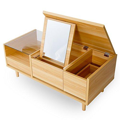 LOWYA (ロウヤ) ローテーブル ドレッサー 鏡は3段階...