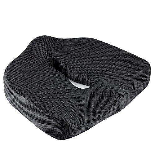 IKSTAR クッション 低反発座布団 オフィス 椅子 車用 シートクッション RoHS安全基準クリア 座り心地抜群 運転快適 カバー洗える【メーカー正規品・1年保証】