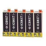 5個セット ≪エプソン≫ IC-BK67 (黒) 互換インク
