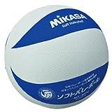 ミカサソフトバレーボールホワイトブルー 小学校ソフトバレーボール試合球 1~4年生用 MS-M64-WBL