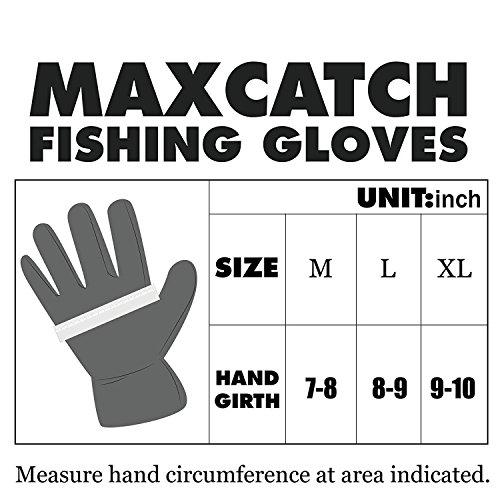 Maxcatch Sun Protection Fishing Gloves Fingerless Nonslip Sun Gloves Size: L/XL