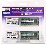 CFD販売  ノートPC用メモリ PCL-12800(DDR3L-1600) 4GB×2枚 1.35/1.5V対応 SO-DIMM (無期限保証)(Panram) W3N1600PS-L4G
