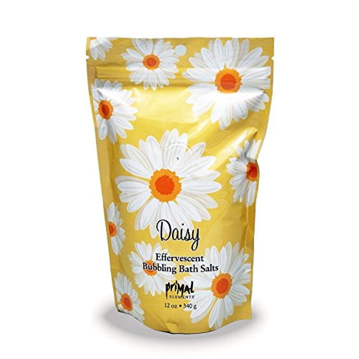 ぴったりセメント疫病プライモールエレメンツ バブリング バスソルト/デイジー 340g エプソムソルト含有 アロマの香りがひろがる泡立つ入浴剤