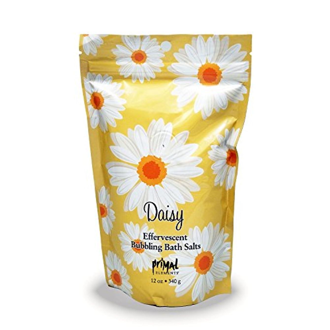 手荷物メディアフリースプライモールエレメンツ バブリング バスソルト/デイジー 340g エプソムソルト含有 アロマの香りがひろがる泡立つ入浴剤