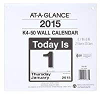 At-A-Glance K450 Today Is Daily Wall Calendar Refill 9-3/8w x 12h