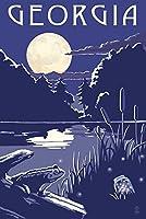 Georgia–夜の湖 24 x 36 Giclee Print LANT-68753-24x36