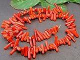 g3-350Q   中 赤珊瑚 サンゴ コーラル 1連39cm さざれ チップ 穴あり アフリカ産 天然石 パワーストーン