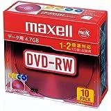 maxell データ用 DVD-RW 4.7GB 2倍速対応 カラーミックス10枚 5mmケース入 DRW47MIXB.S1P10S A