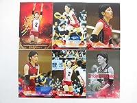 2014火の鳥NIPPON【02中道瞳】金箔サインカード含む全6種セット≪全日本女子バレーボールチームオフィシャルトレーディングカード≫