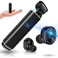 【改良版】 Bluetooth イヤホン 完全 ワイヤレスイヤホン 高音質 ブルートゥース ヘッドセット 両耳 充電ケース付 超軽量 コンパクト 左右分離型 マイク内蔵 ハンズフリー通話 IPX5防水 iPhone Android 対応 (ブラック)