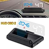 Car Head Up Display OBD2 Car HUD with Reflection Board Display No Double Image Speed RPM Voltage