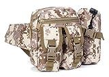 モンベル メンズ R-STYLE サバゲーやミリタリーファッションに 水筒入れポーチ付多機能ウエストバッグ (砂漠デジタル迷彩柄)