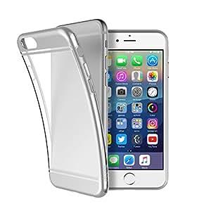 マンティファン multifun ソフトクリアケース iphone 6plus 5.5インチ 電気メッキ iphone 6s/6 plus (シルバー)