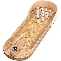 a-parts木製ミニデスクトップボーリングゲームおもちゃセット子供用子供インドア楽しいボーリングおもちゃ親子Interact Developmentalトイ