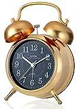 LANDEX 目覚まし時計 カンパネラ 常時点灯 ゴールド YT5230GD