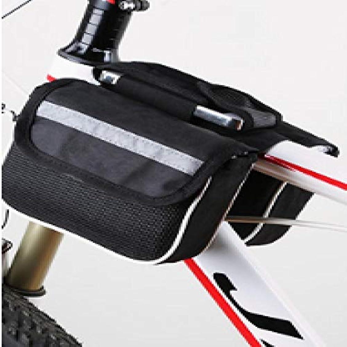 つづり剥離生き返らせる大容量の自転車バッグ、電話付きタオル、自転車ラック、平底サドルチューブバッグ用ダブルバッグ Black